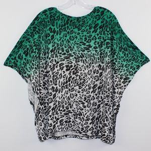 H&M Tops - H&M Butterfly Dolman Leopard Top Shirt L